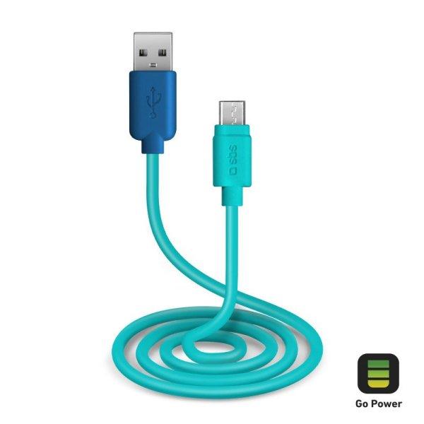 USB 2.0 Kabel na Micro-USB GO POWER POP 1m