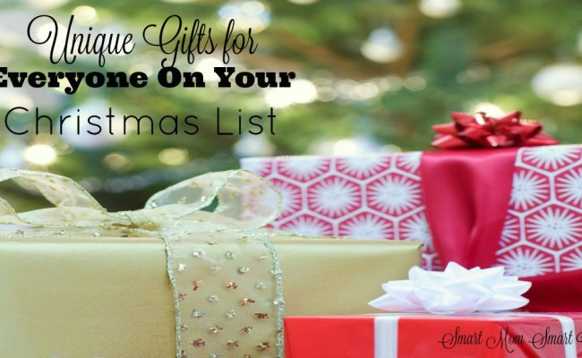 Unique Gifts For Everyone On Your Christmas List