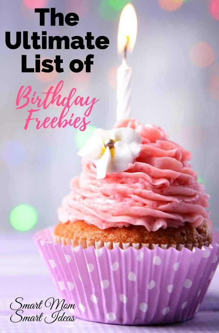 Best Birthday Freebies Recommendations Smart Mom Smart
