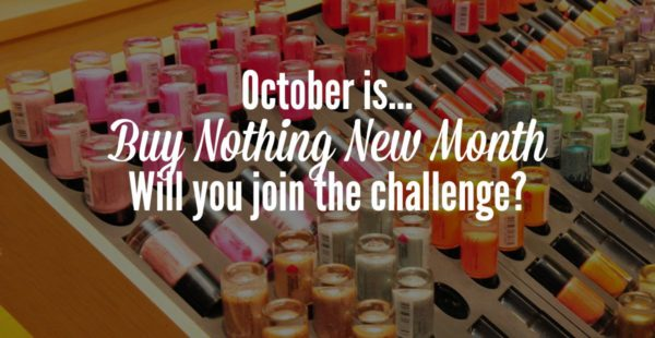 october is buy nothing new month