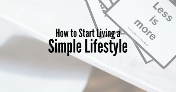 living a simple lifestyle