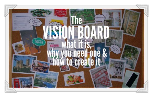 the vision board. What it is, why you need one and how to create it