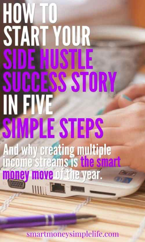 How to start your side hustle success story in five simple steps and start making extra money at home.
