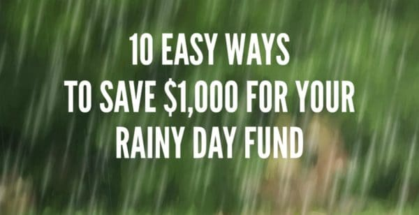 Rainy Day Fund   $1000 can seem like a lot of money. Break it down and it's a lot less daunting. $3 a day = $1000+ per year. Grab a jar and start saving!