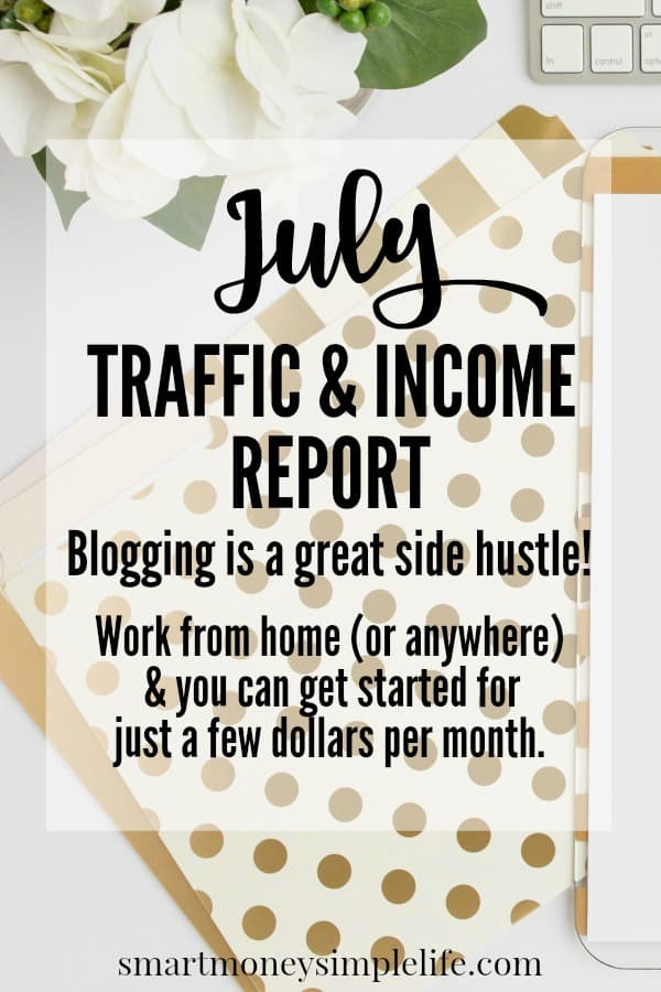Blog traffic and income report. Work from home and you can start for just a few dollars per month.