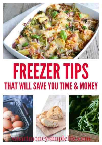 freezer tips to help save money on food