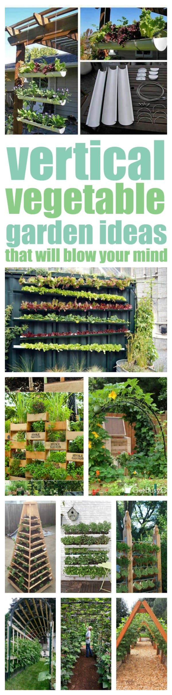 vertical vegetable garden ideas that will solve your garden space problems - Garden Ideas Vegetable