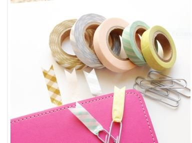 washi-tape-paperclip-bookmark