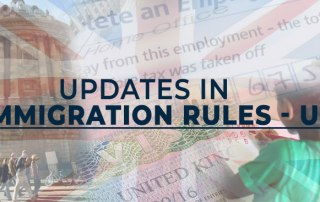 Updates in Immigration Rules for UK