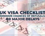 UK Visa checklist - 2018