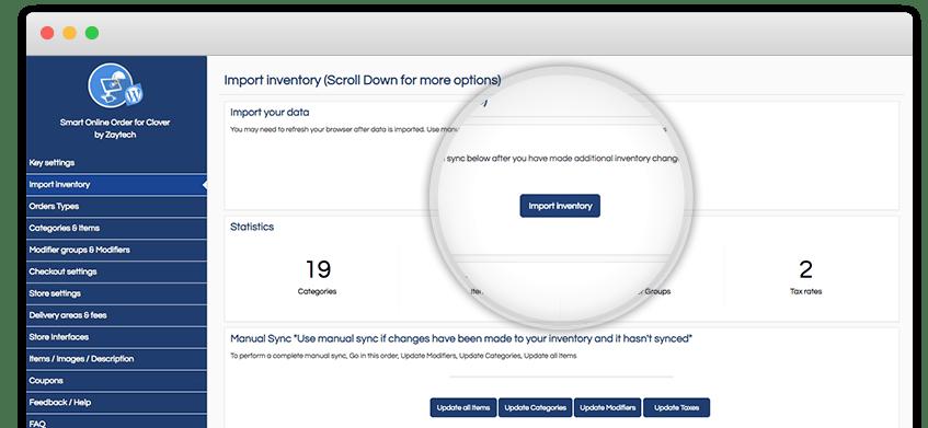 online ordering screenshot