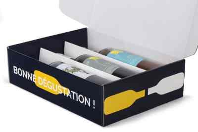 emballage carton vin personnalisé