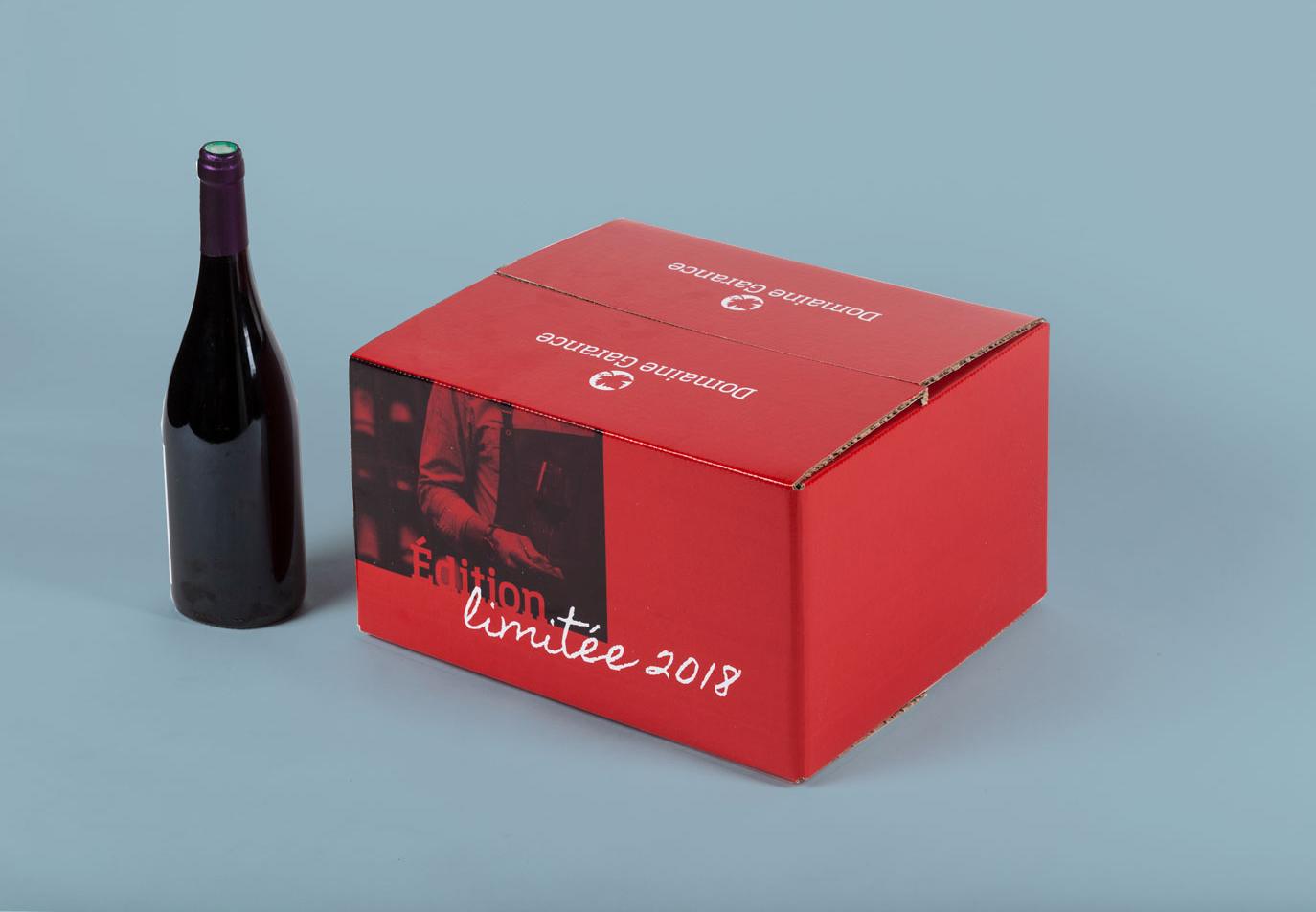 Caisse de vin personnalisable