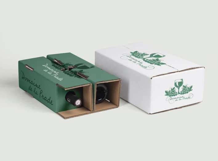 carton expédition bouteille personnalisé