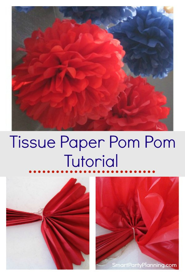 Super easy tissue paper pom pom tutorial that is fantastic to use for party decorations. This is DIY party decor at it's best. Learn how to make a mountain of pom pom's quickly and easily that is also budget friendly. These are great for birthday parties and other celebration occasions. #Tissuepaperpompom #Tutorial #Partydecoration #tissuepaper #Simple #Easy #Birthdayparties