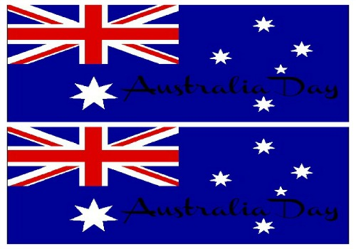 Australian Flag Water Bottle Labels
