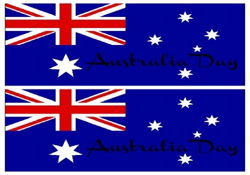 Australian Flag Water Bottle Labels