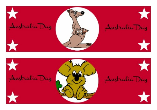 Australia Day Water Bottle Printables