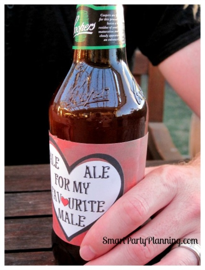 Valentine's Day beer printable's are easy to use and make for an awesome gift. Simply choose his favorite beer and add these labels of love.