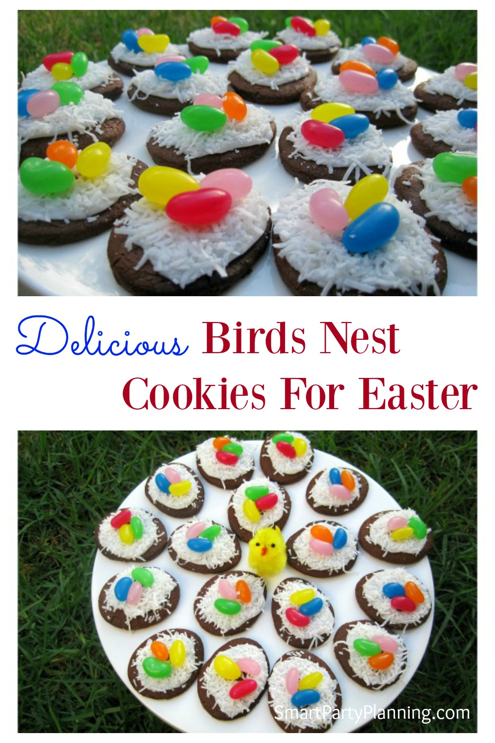 Learn how to easily make birds nest cookies that the kids are going to love. They are a fun treat for Easter and they are simple to prepare. Bake your own cookies, or use a packet. Either way they turn out great!