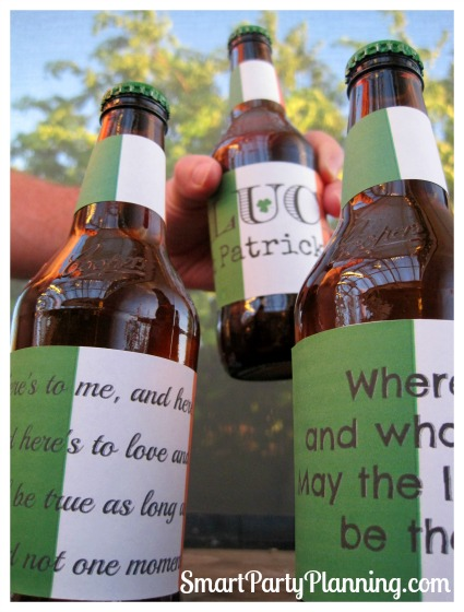 St Pat's and beer go hand in hand. Celebrate in style with these St Patrick's day printable beer labels.They are easy to use and are great for entertaining.