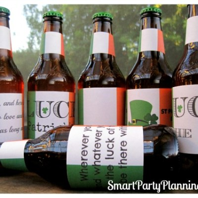 St Patrick's Day Printable Beer Labels