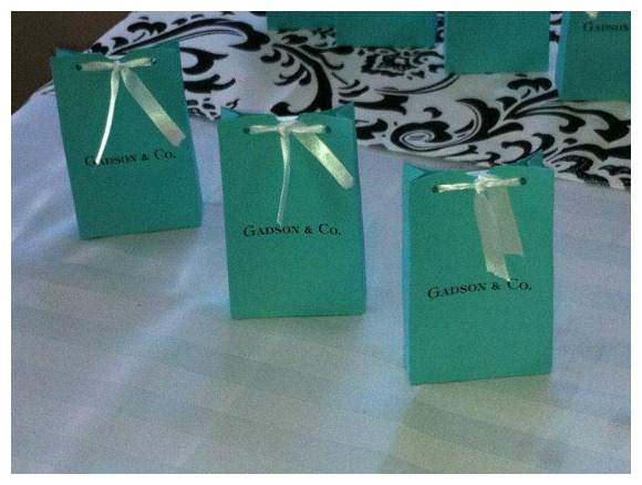 Tiffany Themed Party Baby Shower Favours