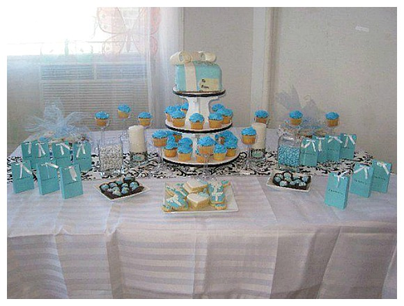 Good Tiffany Themed Party Baby Shower Ideas