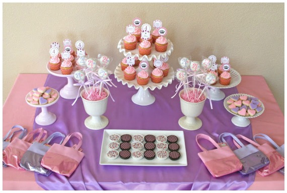 Princess Party Ideas - Pink and Purple