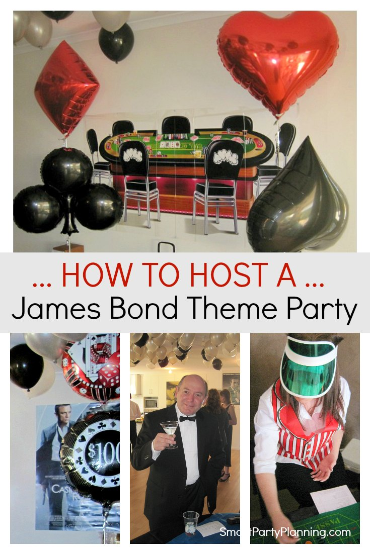 How to host the ultimate james bond theme party for Decor 007