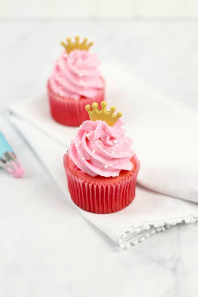Princess Raspberry Cupcakes