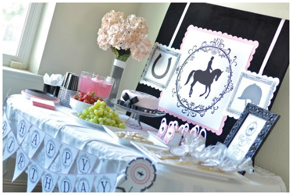 Girls Birthday Party Ideas Horse riding
