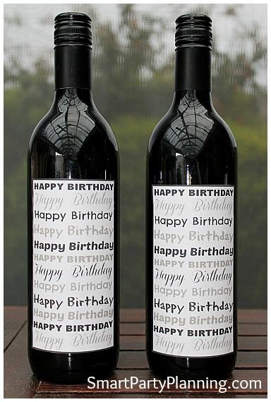 Birthday Printable Wine Labels