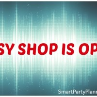Smart Party Planning Etsy Shop