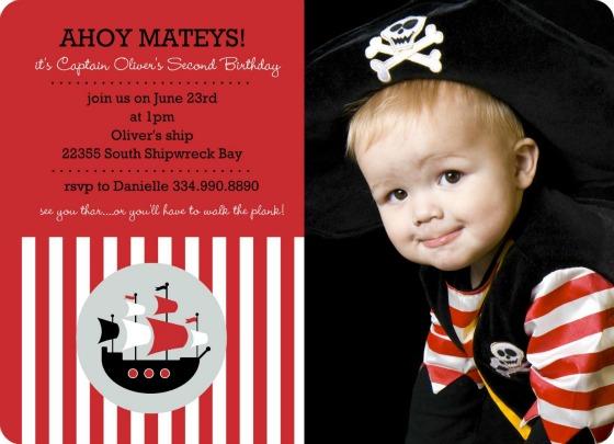 Creative Invitations Pirate theme