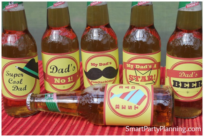 Retro Fathers Day Beer Labels