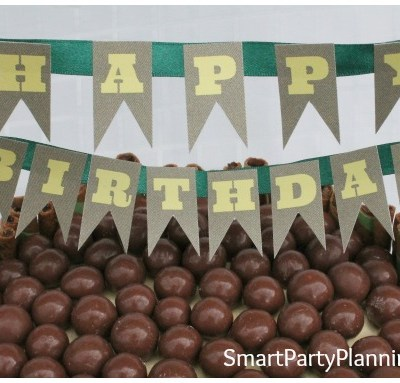 Malteser Cake with FREE Birthday Cake Banner