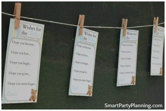 Teddy Bear Wishes For The Baby Cards