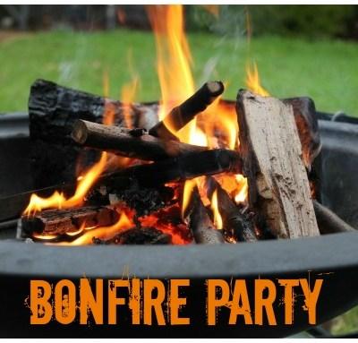 Bonfire Party & Printable Wine Labels