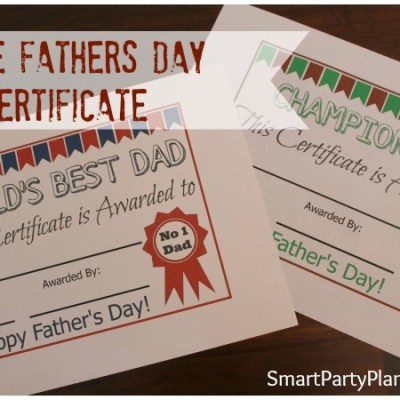 FREE Fathers Day Certificate