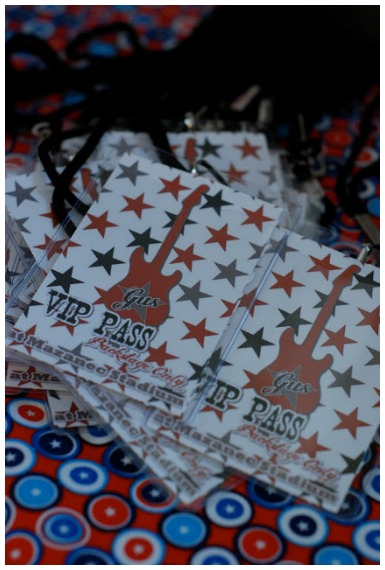 VIP pass at a rock star party