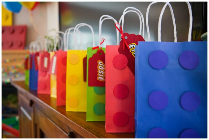 Lego party favor bags