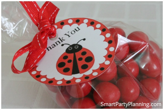 Ladybug printbles gift tags