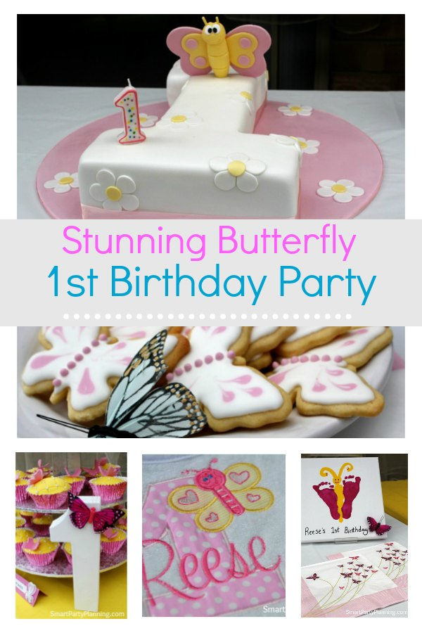 Astounding Stunning Butterfly Theme Party For A First Birthday Funny Birthday Cards Online Overcheapnameinfo