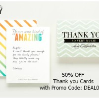 50% Off Thank You Cards