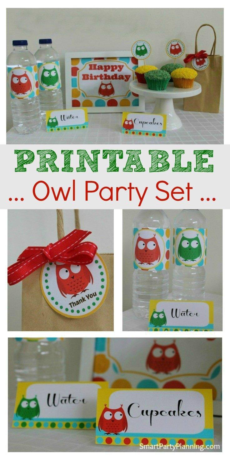 Printable Owl Party Set