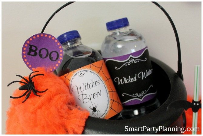 Halloweeen Water Bottle Labels