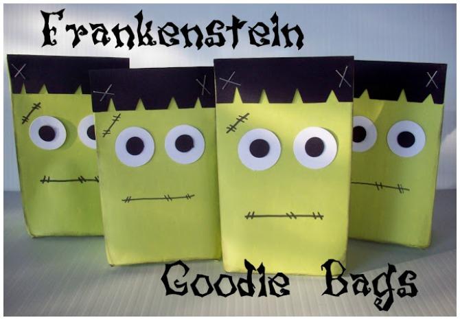 Frankenstein Favor Bags