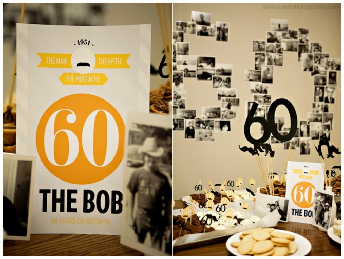 Mustache Party Ideas for a 60th birthday