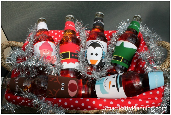 Christmas Beer Labels made up as a hamper